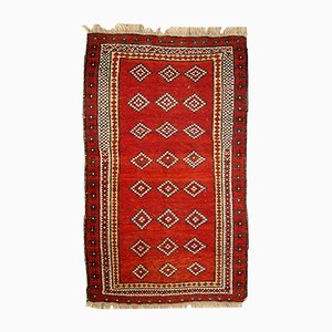 Antique Uzbek Gulyam Handmade Rug, 1910s