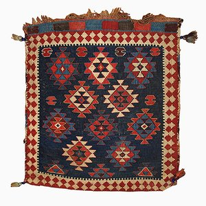 Antique Russian Kuba Handmade Bag Rug, 1880s