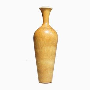 Orange Steingut Vase von Berndt Friberg, 1964