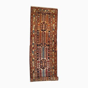 Vintage Persian Heriz Handmade Runner Rug, 1930s
