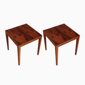 Vintage Rosewood Side Tables by Severin Hansen for Haslev, Set of 2