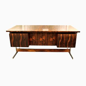 Danish Rosewood & Chrome Desk, 1960s