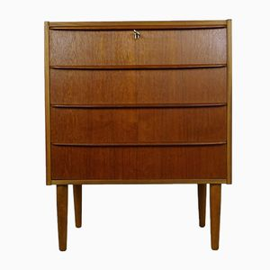 Teak Chest of Four Drawers from Risskov, 1960s