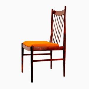 Dänische Mid-Century Palisander Stühle mit Bezügen aus Kaschmir