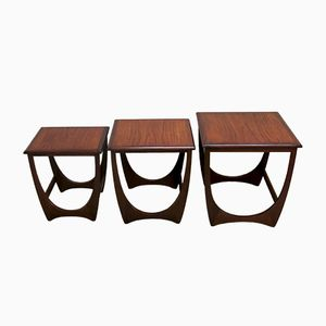 Vintage Teak Astro Nesting Tables from G Plan, 1960s, Set of 3