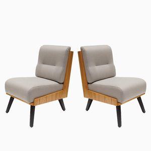 Mid-Century Polish Armchair by Lesniewski Lejkowski for Krakow Furniture Factory, 1960s, Set of 2