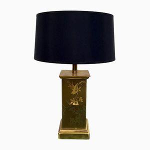 Vintage Lampe aus Geätztem Messing, 1970er