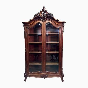 Antique Louis XV Walnut Bookcase