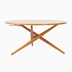 Ess.Tee.Tisch Height Adjustable Coffee Table by Jürg Bally for Wohnhilfe Zürich, 1951