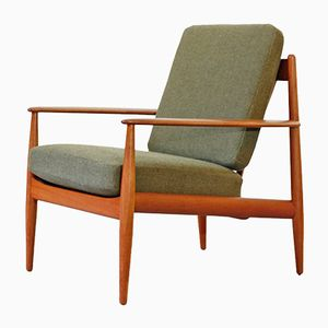 No. 118 Teak Easy Chair by Grete Jalk for France & Søn, 1950s