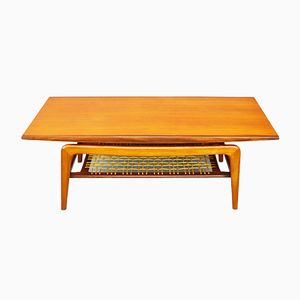 Mid-Century Danish Teak Coffee Table with Magazine Rack
