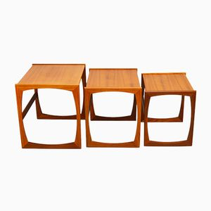 Mid-Century Quadrille Teak Nesting Tables by G-Plan