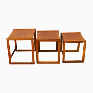 Mid-Century Danish Teak Nest of Tables, Set of 3