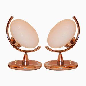 Italienische Mid-Century Tischlampen, 1970er, 2er Set