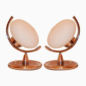 Mid-Century Italian Table Lamps, 1970s, Set of 2