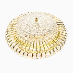 Hollywood Regency Crystal Ceiling Lamps, Set of 4