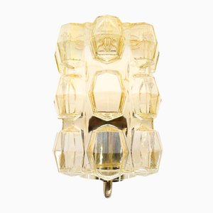 Mid-Century Yellow Glass Sconce, 1960s