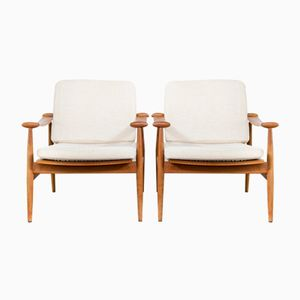 FD-133 Spade Armchairs by Finn Juhl for France & Søn, 1960s, Set of 2