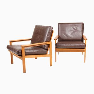 Vintage Capella Lounge Chairs by Illum Wikkelsø for Eilersen, Set of 2