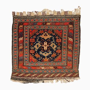 Antique Handmade Persian Malayer Bag Face Rug, 1900s
