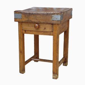 Table de Boucher Antique en Hêtre, France