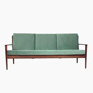 Mid-Century Drei-Sitzer Teak Sofa