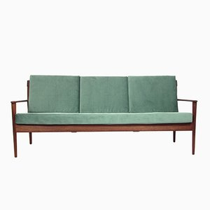Mid-Century Three-Seater Teak Sofa