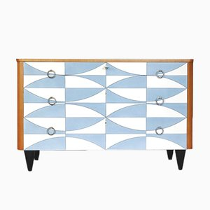 Chest of Drawers with Handcrafted Pattern, 1960s