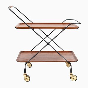 Vintage Swedish Teak Serving Trolley, 1960s