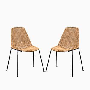 Vintage Stuhl aus Korbgeflecht, 1960er