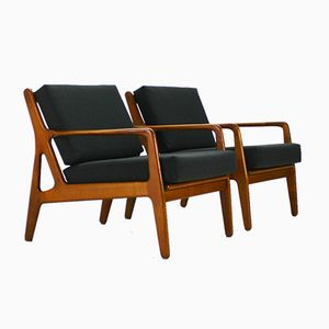 Mid-Century Walnuss Sessel, 1960er