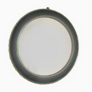 Runder Tükisener Steingut Vintage Spiegel Vintage mit Glaslasur
