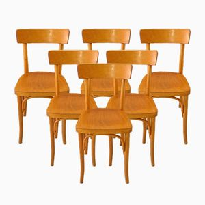 Bistro Chairs from Thonet, 1950s, Set of 6