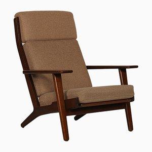 GE 290 High-Back Eiche Sessel von Hans J. Wegner für Getama, 1970er