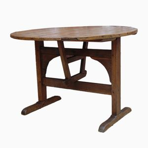 Antique Oak & Pine Wine Tasting Table