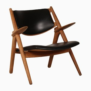 CH 28 Oak Sawbench Chair by Hans J. Wegner for Carl Hansen, 1950s