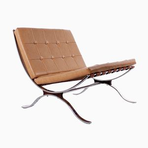 Flat Steel Lounge Chair, 1960s