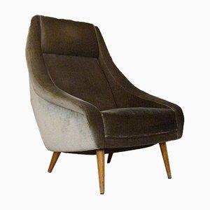 Italian Mohair Highback Chair, 1950s