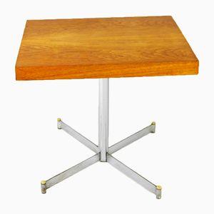 Deutscher Tisch mit Stahlfuß, 1970er
