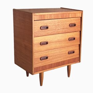 Small Chest of Drawers with Angled Drawer Fronts, 1970s