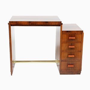 Art Deco Italian Writing Desk with Four Drawers, 1930s