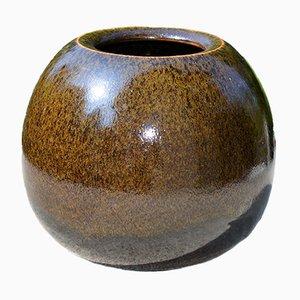 Sphärische Steingut Vase von Horst Kerstan