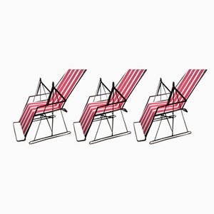 Libellule Loungers from Manufrance, 1930s, Set of 3