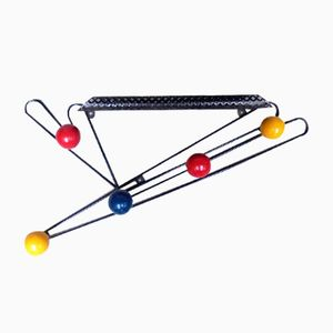 Vintage Coat Rack with Colorful Spheres