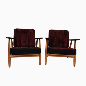 Danish Cigar Armchairs by Hans J. Wegner for Getama, Set of 2