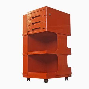 Italienischer Oranger ABS Servierwagen von Giovanni Pelis für Stile Neolt, 1970er
