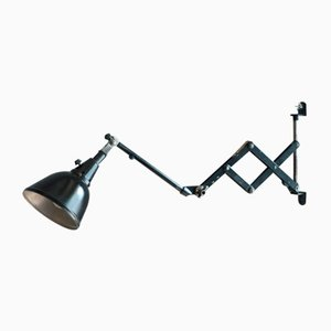 Small Black Scissor Lamp by Curt Fisher for Midgard DRGM DRP