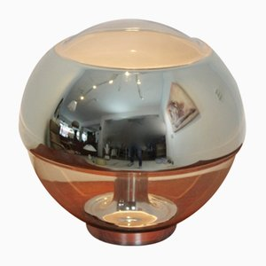 Vintage Tischlampe aus Verchromtem Spiegelglas von Peill & Putzler