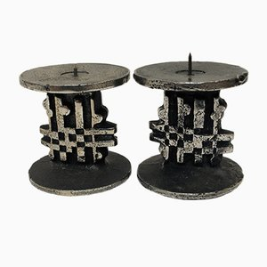 Vintage Norwegian Steel Candleholders by Olav Joa for Polaris, Set of 2