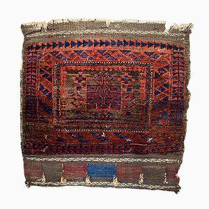 Antique Afghan Baluch Handmade Bagface Rug, 1880s